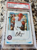 BRYCE HARPER 2011 Bowman Chrome #1 Draft Pick Rookie RC PSA 9 Nationals HOT