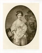"""""""GREUZE : La Cruche cassée"""" Phototypie originale BRAUN CLEMENT & Cie 1890"""