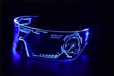 Cyberpunk Goggles LED Tron Visor Glasses Perfect For Cosplay Festivals Halloween