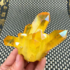 Natural Citrine Amethyst Crystal Quartz Cluster Gem Stone Healing Specimen UK