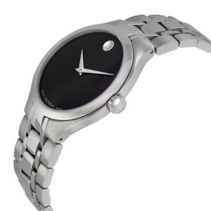 Movado Swiss Made Stainless Steel Museum 01.1.14.1085 Men's Wristwatch Pre-Owned