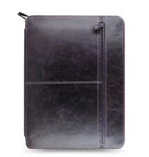 Filofax Malden Zipped Portfolio A4 Purple Leather- 828078