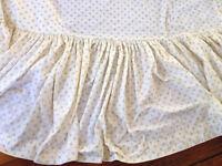 Vintage Laura Ashley Full Size Floral Cotton Blend Bed Skirt USA Made Burlington
