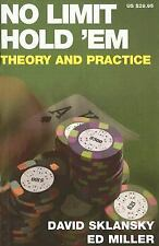 No Limit Hold 'em : Theory and Practice by David Sklansky and Ed Miller (2006, …