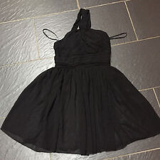 RARE TWIST NECK CHIFFON DRESS BLACK SIZE 8 BRAND NEW £45