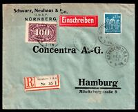Germany 1929 Registered Cover to Hamburg (damaged) WS8599