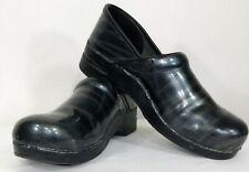DANSKO Women's Professional Clogs Shoes Size 42 Black Blue Gray Metallic Sheen
