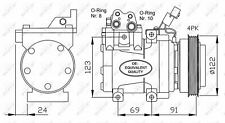 A/C COMPRESSOR AIR CONDITIONING NRF OE QUALITY REPLACEMENT 32205
