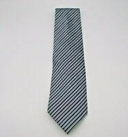 """Kenneth Cole Men's Neck Tie Blue & Gray Stripe Pattern Silk 58"""" x 3.75"""""""
