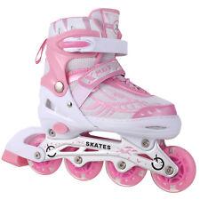 Kids Adjustable Inline Skates Roller Blades Light Up Scale Sports S-M-L Size