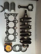 Honda 1.6 D16Y8 Crankshaft with Bearings,Graphite H.Gasket, Rings, 4 Rods 96-00