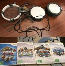 Wii 4 Skylanders Game + 3 Portals Spyros Adventure Giants Trap Team & Swap Force