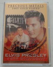 Marvelous Elvis  Presley  The King  24 kt  GOLD plated  BAR   ingot    card