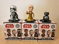 Funko Star Wars Mystery Minis Last Jedi Bobbleheads Phasma, Snoke, BB9E
