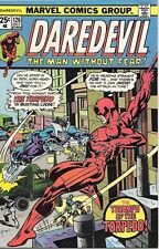 Daredevil Comic Book #126 Marvel Comics 1975 Fine+