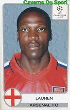 067 LAUREN CAMEROON ARSENAL.FC STICKER PANINI CHAMPIONS LEAGUE 2001-2002