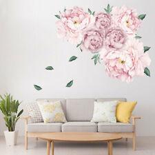 Wandtattoo Blumenranke Wohnzimmer Pfingstrose  Ornament Deko