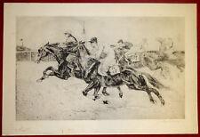 Grafik Kurt Meyer-Eberhardt Radierung,Pferderennen,Start,signiert