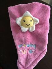 Baby Gear Growing Cuter Fleece Pink Lovey Daisy Security Blanket Flower Baby