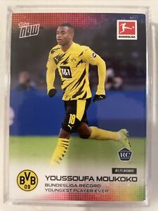 2020 TOPPS NOW #45 YOUSSOUFA MOUKOKO RC BUNDESLIGA Record Youngest Player Ever