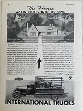 1938 International Harvester Co Trucks Furniture Stores of America Truck Ad