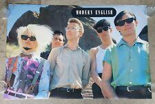 VINTAGE ORIGINAL 1983 MODERN ENGLISH POSTER