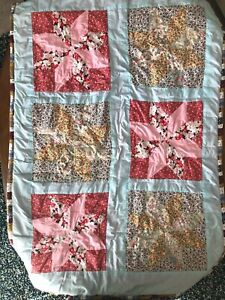 Handmade 8 Point Star Quilt Crib Blanket Throw Home Made