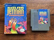 Solar Jetman Hunt for Golden Warship COMPLETE game w/ Box Nintendo NES - TESTED