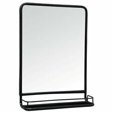 Industrial Black Wall Hanging Mirror with Mini Shelf by Ib Laursen 70 cm