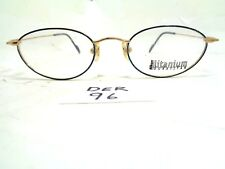 New NIKON Eyeglasses Duratitan DT4800 Blue Gold Oval Titanium Japan (DER-96)