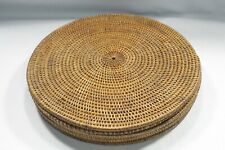 "Set of 6 Round Wicker Rattan Placemats Chargers 15.5"" -16"", Brown"