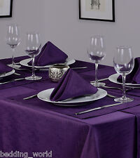 LINEN LOOK PURPLE TABLE CLOTHS PLUM AUBERGINE BIRTHDAY PARTY CHRISTMAS OCCASIONS