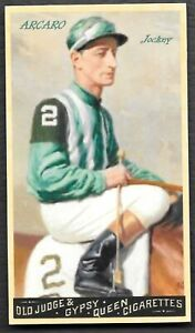 1895 Old Judge Cigarettes CTNW #2 Eddie Arcaro Jockey Card