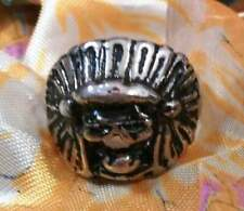 Vintage Indian Chief Skull Ring Size 10.5 Mens New Old Stock Biker Motorcycle US