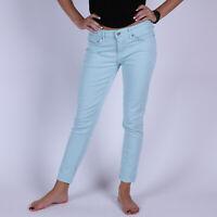 Levi's 711 Skinny Fair Aqua Twill Blau Damen Jeans Größe 28