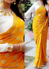 Embroidery Saree Designer Silk Fabric Sari For Women Indian Party Wear DVD MS-25
