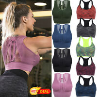 LZ Women Padd Sport Bra Lady Crop Top Gym Yoga Workout Tops Fitness Shaper Vest