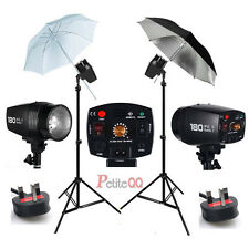 Photo Flash lighting Kit Studio Strobe White Reflective Umbrella Stand UK Local