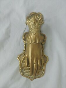 Antique English Victorian Brass Hand Desk Paper Clip