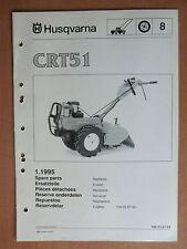 HUSQVARNA Gartenfräse CRT 51 Ersatzteilliste parts list tiller 1995 Motorhacke