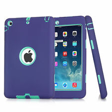 Kids Heavy Duty Hybrid Shock Dirt Proof Case Cover for Apple iPad 4 3 2/mini/Air