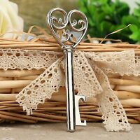 Wine Beer Bottle Opener Key To My Heart Shaped Bridal Party Wedding Favor Gift