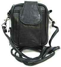 "Soft Leather Mini Bag(4.25""X3.5""X2"") Camera, Card, Money, Cosmetic or Cigarette"