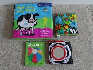 4 x Baby Cloth/Board Books