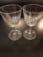 Luminarc Crystal Water Goblets Cris D'Arques/Durand Diamant Pattern - Great Gift