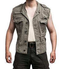 German Army Vintage Genuine Survival Gilet Vest Fishing MAN KIDS Grey-Olive
