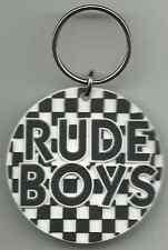 MOD rude boys 2014 - circular RUBBER KEYCHAIN ska mod two tone