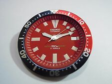 NEW REPLACEMENT RED DIAL /HANDS/ BEZEL INSERT FITS SEIKO 7002-7001 DIVER'S WATCH