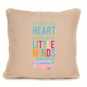 Personalised Shape Little Minds Cushion Gift For Your Teacher End Of Term