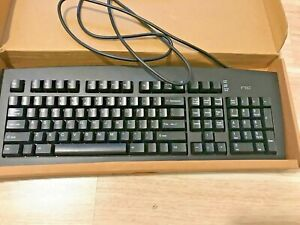 RARE WHITE BOX VINTAGE NIC SCORPIUS 98A BLACK PS2 KEYBOARD FCC F2Q4NE98A